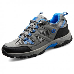 height increasing hiking shoes for Men Taller  6.5cm / 2.6inch grey mountaineering shoes