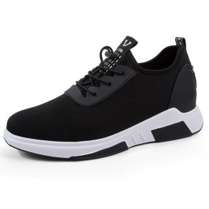 Men taller fashion sneakers increase height 8cm / 3.2inch