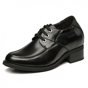 Cow leather height elevator dress shoe increasing 10cm / 4inches taller business shoes