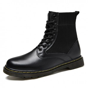Fashion Height Increasing Chukka Boots Comfortable Elevator Boots Gain Taller 2.6 inch / 6.5 cm