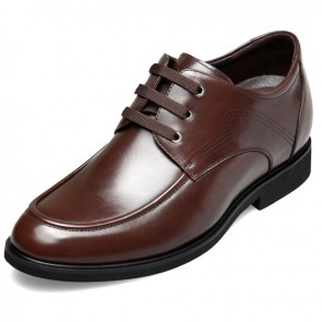 Breathable taller elevator casual business shoes 2.6inch / 6.5cm Brown
