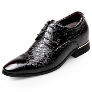 Pointed Toe Elevator Formal Shoes for men taller 2.6inch wedding shoes