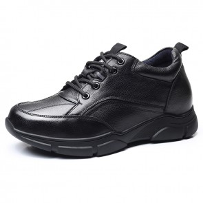 Comfortable Hidden Taller Shoes for Men Add Height 3.2 inch / 8 cm Premium Leather Elevator Shoes