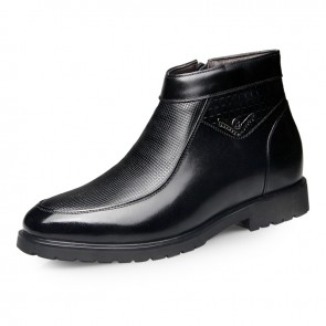 British taller formal cotton boot increase height 6.5cm / 2.56inch warm zip boots