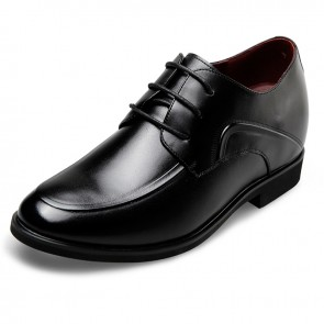 Simple elevator dressy shoes for men lace up height formal shoes