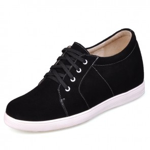 Black men increase height Wool lining shoes get taller 7cm / 2.75inches