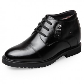 Winter Elevator Dress Shoes for Men Increase Taller High Top Business Shoes