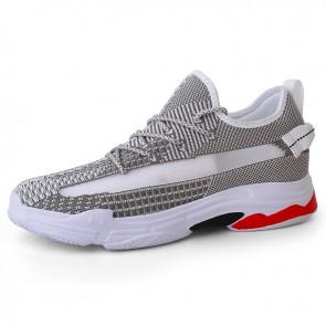 Ultra Lightweight Hidden Heel Lift Sneakers Add Taller 3 inch / 7.5 cm Slide Hollow-Out Mesh Walking Shoes