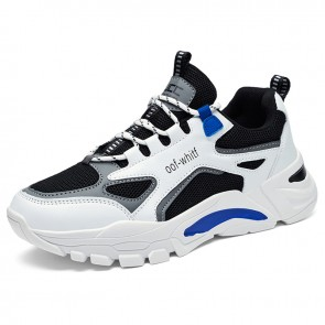Trendy Height Increasing Mixes Sneakers Get  Taller 3 inch / 7.5 cm Elevator Mesh Chunky Dad Shoes