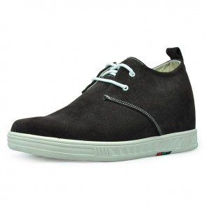 Coffee men lift casual shoes can be taller 7cm / 2.75inches