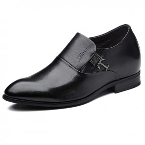 Tall wedding loafers casual business shoes 2.4inch / 6cm Black