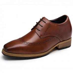 Men Brogue tall dress shoes height 7cm / 2.8inch elevator dress shoes