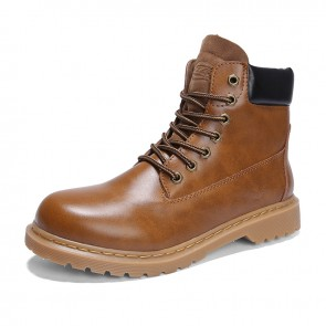 Retro Height Elevator Ankle Boots Brown Nubuck Work Boots Taller Desert Boots 3.6inch / 9cm