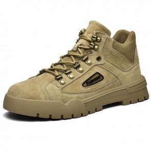 Elevator Mid Top Sneaker Boot for Men Increase Height  2.4inch / 6 cm Hidden Taller Desert Boots
