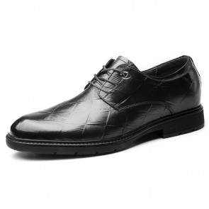 2019 Korean Elevator Formal Shoes for Men Increase Taller 2.6inch / 6.5cm Genuine Leather Business Derbies