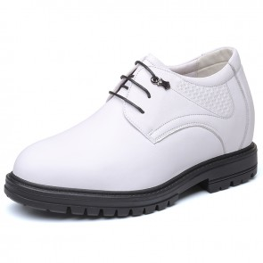 Best 4 inch Height Inceasing Shoes White Soft Premium Leather Elevator Men Tuxedo Shoes Gain Taller 10cm