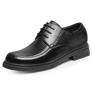Extra Taller Formal Sandals for Men Gain Taller 3.2 inch / 8 cm Elegant Height Increasing Perforated Derbies