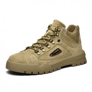 2021 Comfortable Elevator Work Shoes for Men Increase 2.8inch / 7cm Hidden Heel Lift Mid Cut Sneakers