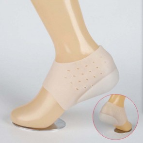 Hot Unisex Invisible Height Increase Socks Heel Pads Silicone Insoles Foot Massage Silicone Heel Lift Inserts