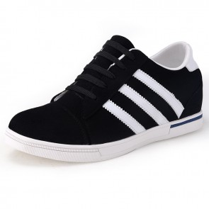 Suede Leather elevator skateboarding shoes 6cm / 2.36inch height sneakers