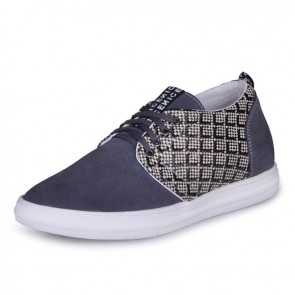 Grey Korean height insoles shoes elevated Skateboard shoe that make you tall 6cm / 2.36inches