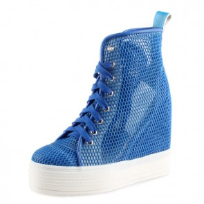 Women leisure sports height increasing shoes make you taller 12cm / 4.7 inches breathable mesh elevator shoes
