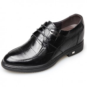2018 Embossed Leather Elevator Shoes for Men