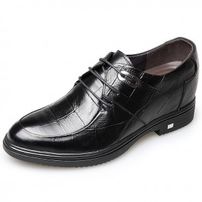 Lace up Elevator dress shoes for men taller 8cm / 3.2inch men height business shoes