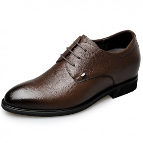 2018 Soft Leather Elevator Dress Shoes for Men Height 2.6inch