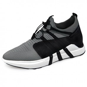 Ultralight elevator sneakers for men height 2.6inch / 6.5cm slip on casual shoes