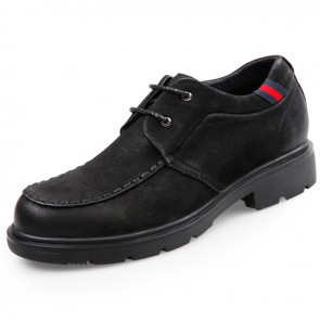 Nubuck Cowhide Casual shoes Hidden heel taller shoes