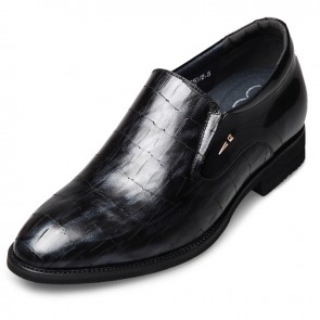 Height Increasing Dress Loafers Taller 2.6inch / 6.5cm Slip On Elevator Formal Shoes