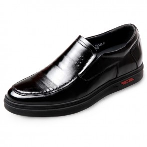 Elevator Slip On Dress Shoes for men taller 2.4inch / 6cm business casual shoes