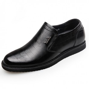 Slip On Hidden Lifts Tuxedo Shoes for men Increase 2.4inch / 6cm casual business shoes