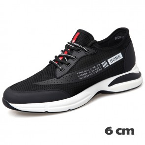 Campus Elevator Sneakers for Men Gain Height 2.4inch / 6cm Casual Flyknit Mesh Shoes