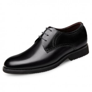 lightweight Glossy Elevator Wedding Shoes for men lace up Party Shoes Add Height 2.8inch / 7cm