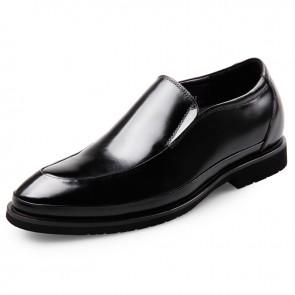 Lightweight elevator shoes for men Slip On Glossy Dress Oxford Taller 2.6inch / 6.5cm