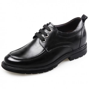 Height Increasing Casual Shoes for Men Taller 2.6inch / 6.5cm Cow Leather Business Shoes