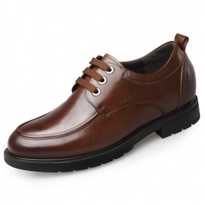 Men Height Increasing Casual Shoes Add Altitude 2.6inch / 6.5cm Cow Leather Business Shoes