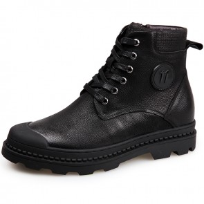 elevator military shoes height increasing combat boot shoes