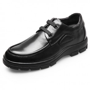 Quality height elevator business casual shoes 2.6inch / 6.5cm Black