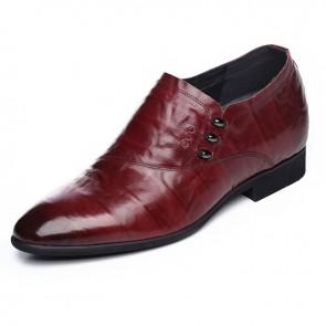 Slip on  business formal boat shoes for men Korean elevator dress loafer shoes