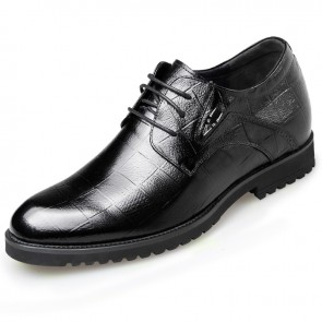 Tartan Design Men Dress Shoes Height Increasing formal shoes