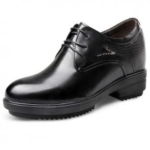 Premium extra altitude plain toe tuxedo dress shoes 4inch / 10cm