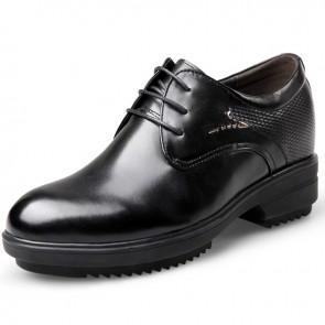 Premium height taller plain toe tuxedo dress shoes 3.2inch / 8cm