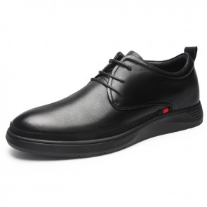 Hidden Lift Formal Shoes for Men Increase Taller 2.4inch / 6cm Soft Leather Elevator Tuxedo Dress Oxfords