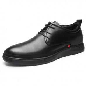 Hidden Lift Formal Shoes for Men Increase Taller 2.4inch / 6cm Soft Leather Elevator Tuxedo Dress Oxfords