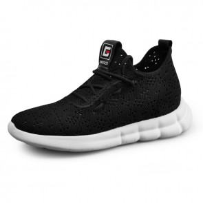 2019 Elevator Hollow Out Trainers Make You Taller 2.6inch / 6.5cm Lightweight Comfortable Mesh Flyknit Walking Shoes