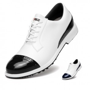 Elevator Cap Toe Golf Shoes Increase 2 inch / 5 cm Waterproof Leather Casual Brogue Trainers