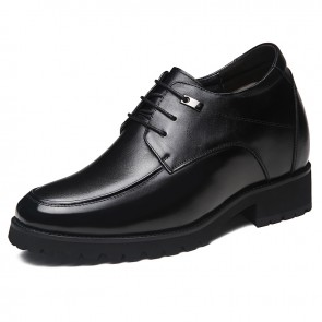 Elegant Taller Wedding Shoes Increase Height 4.7inch / 12cm Black Elevated Men Tuxedo Shoes